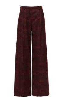 Широкие брюки в клетку с защипами Sonia Rykiel