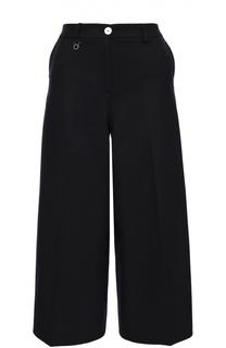 Укороченный широкие брюки с декоративной отделкой Armani Jeans