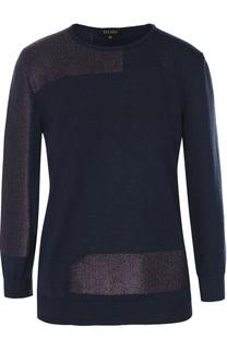 Пуловер прямого кроя с металлизированной отделкой Escada