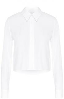 Укороченная хлопковая блуза прямого кроя Escada Sport