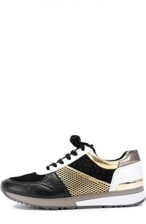 Комбинированные кроссовки Allie Michael Michael Kors