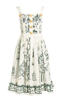 Приталенный сарафан с декоративными пуговицами Dolce & Gabbana