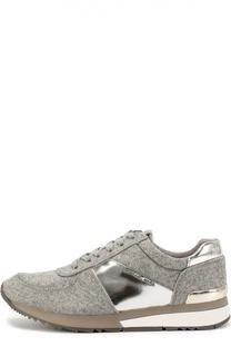 Текстильные кроссовки с металлизированной вставкой Michael Michael Kors