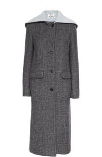 Удлиненное шерстяное пальто с капюшоном Acne Studios