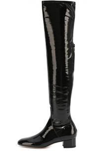 Лаковые ботфорты Stretch на устойчивом каблуке Valentino