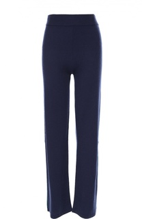 Шерстяные брюки с эластичным поясом и контрастными лампасами Escada Sport