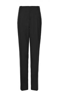 Шерстяные брюки прямого кроя с контрастными лампасами Alexander McQueen