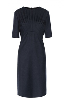 Приталенное платье с коротким рукавом и драпировкой Escada