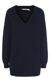 Удлиненный пуловер свободного кроя с V-образным вырезом T by Alexander Wang