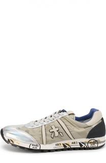 Комбинированные кроссовки Lucy с отделкой мехом Premiata