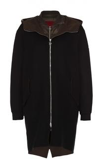 Пальто прямого кроя с пуховой подстежкой Moncler