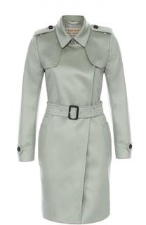 Кашемировое пальто с поясом и погонами Burberry