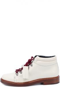 Кожаные ботинки на шнурках с декором Tod's