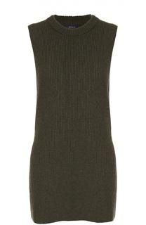 Удлиненный пуловер без рукавов с круглым вырезом Polo Ralph Lauren