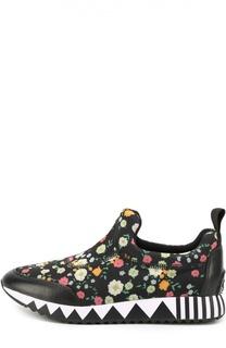 Текстильные кроссовки с цветочным принтом Tory Burch
