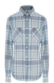 Блуза прямого кроя в клетку с накладными карманами Polo Ralph Lauren