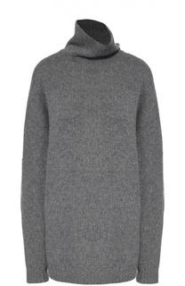 Удлиненный свитер со спущенным рукавом и высоким воротником Acne Studios
