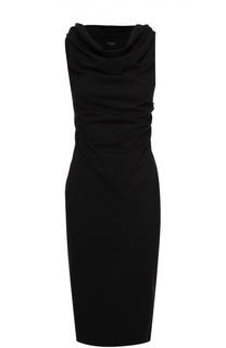 Облегающее платье с вырезом-лодочкой и драпировкой Escada