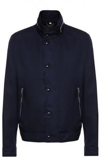Куртка на молнии с потайным капюшоном Burberry