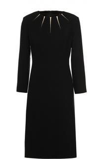 Приталенное платье с круглым вырезом Escada