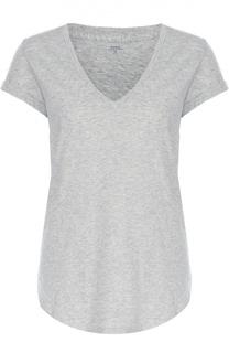 Хлопковая футболка свободного кроя с V-образным вырезом Polo Ralph Lauren
