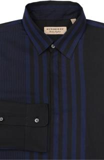 Хлопковая сорочка с воротником кент Burberry