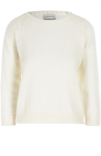 Пуловер с укороченным рукавом и круглым вырезом Moncler