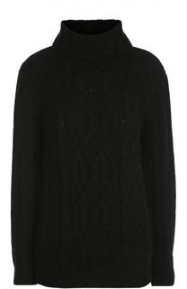 Приталенный кашемировый пуловер фактурной вязки Tom Ford