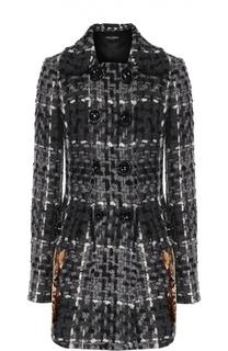 Укороченное пальто с декоративной отделкой Dolce & Gabbana
