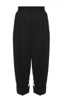 Укороченные брюки с завышенной талией и контрастными лампасами Dolce & Gabbana