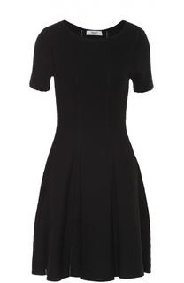 Приталенное платье с перфорацией и коротким рукавом Blugirl