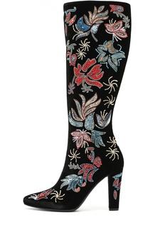 Текстильные сапоги Lily с вышивкой Saint Laurent