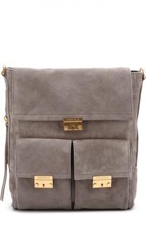 Замшевая сумка Calipso с накладными карманами Coccinelle