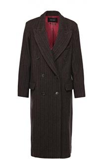 Удлиненное двубортное пальто с широкими лацканами Isabel Marant