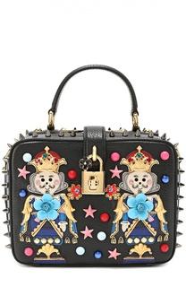 Сумка Dolce Soft с аппликациями и металлическими шипами Dolce & Gabbana