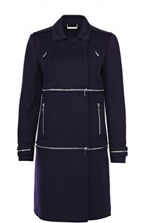 Пальто прямого кроя с декоративными молниями Diane Von Furstenberg