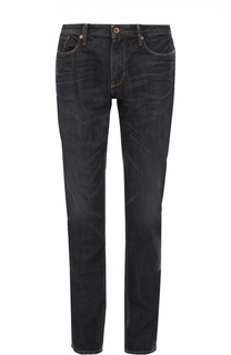 Джинсы прямого кроя с контрастной отстрочкой Armani Jeans