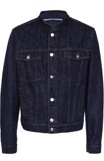 Джинсовая куртка с воротником-стойкой и принтом на спине Kenzo