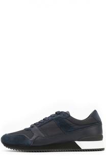 Комбинированные кроссовки на контрастной подошве Armani Collezioni