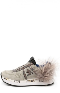 Текстильные кроссовки Holly с отделкой пером Premiata