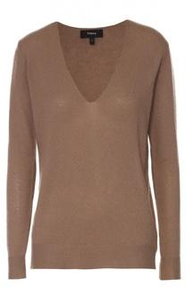 Кашемировый пуловер с V-образным вырезом Theory