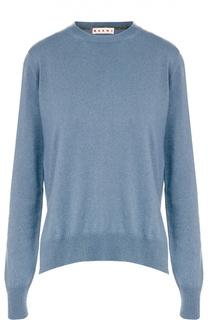 Кашемировый пуловер с круглым вырезом и разрезами Marni
