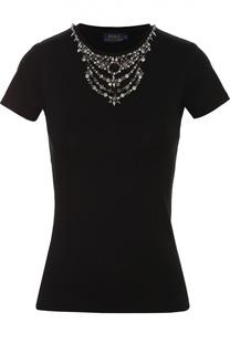 Приталенная футболка с декоративной отделкой Polo Ralph Lauren
