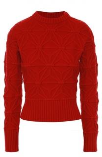 Пуловер фактурной вязки с круглым вырезом Dsquared2