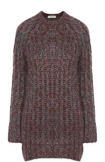 Шелковый пуловер крупной вязки с круглым вырезом Valentino