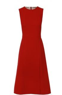 Приталенное платье-миди без рукавов Dolce & Gabbana
