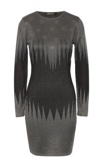 Облегающее вязаное платье с металлизированной отделкой Roberto Cavalli