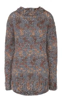Пуловер крупной вязки с декоративной отделкой No. 21