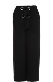 Укороченные широкие брюки с декоративной шнуровкой Proenza Schouler