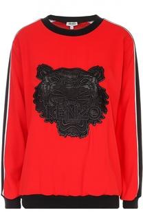 Свитшот с контрастной вышивкой в виде тигра Kenzo